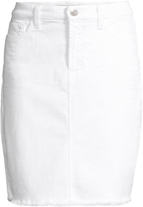 Jen7 By 7 For All Mankind Frayed Denim Pencil Skirt