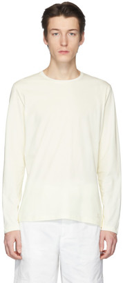 Jil Sanderand White Jersey Long Sleeve T-Shirt