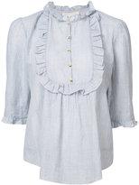 Vanessa Bruno frill trim blouse - women - Cotton/Linen/Flax/Ramie - 38