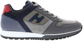 Hogan Sneakers Sneakers 321 In Suede Leather And Macro Net With H Flock