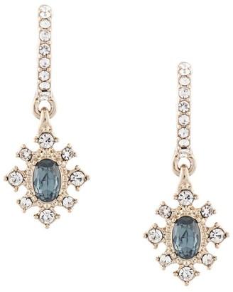 Marchesa Crystal Hoop-Drop Earrings