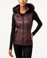 MICHAEL Michael Kors Faux-Fur-Trim Hooded Down Puffer Vest