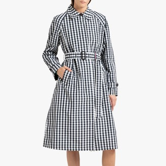 Tommy Hilfiger Long Checked Trench Coat