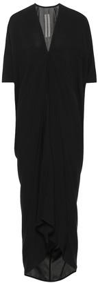 Rick Owens Kite asymmetric crepe midi dress