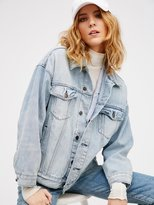 Free People Denim Trucker Jacket in Sky