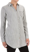 Foxcroft Soft TENCEL® One Pocket Tunic Shirt - Long Sleeve (For Women)
