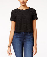 Amy Byer Juniors' Lace Crop Top
