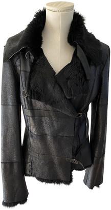 Plein Sud Jeans Black Leather Jackets