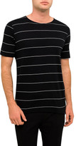 Bassike Stripe Org Neck Tail Shirt