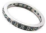 Fashion World 9ct WG Blue Diamond Eternity Ring