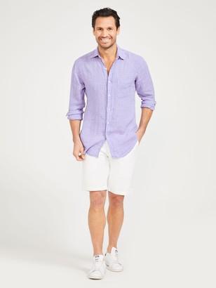 J.Mclaughlin Gramercy Classic Fit Linen Shirt in Gingham