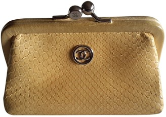 Chanel Yellow Python Purses, wallets & cases