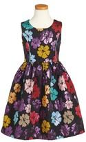 Frais Toddler Girl's Metallic Floral Dress