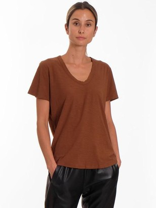 Levete Room - Brown Any 2 Scoop Neck T Shirt - XS