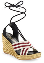 Marc Jacobs Lace-Up Espadrille Wedge Sandals