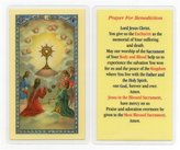 Gifts by Lulee Prayer for Benediction Holy Card Blessed By His Holiness Pope Francis