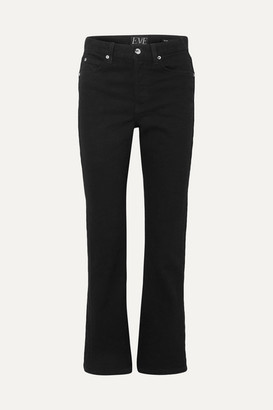 Eve Denim Jane High-rise Flared Jeans - Black