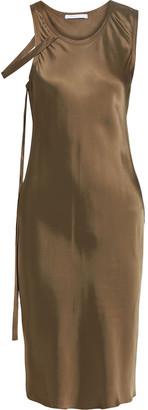 Helmut Lang Strap-detailed Satin Dress
