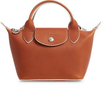 Longchamp La Pliage Cuir Small Leather Top Handle Bag