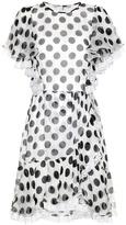 Dolce & Gabbana Polka-dotted silk dress