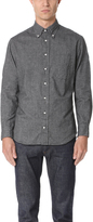 Gitman Brothers Long Sleeve Flannel Chambray Shirt