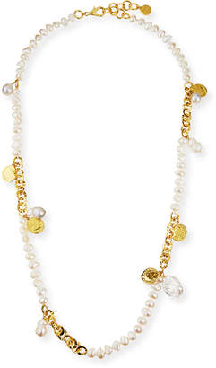 Nest Jewelry Long Coin & Pearl Necklace