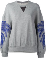 Stella McCartney feather print sweatshirt - women - Cotton/Polyamide/Viscose - 40