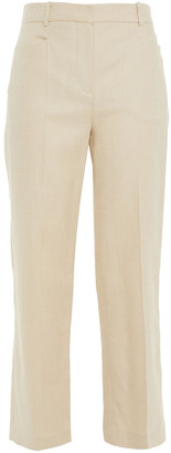 Joseph Cropped Shantung Straight-leg Pants