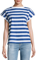MiH Jeans Plage Striped Tee, Blue/White