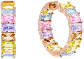 Adina's Jewels Pastel Rainbow Huggie Hoop Earrings