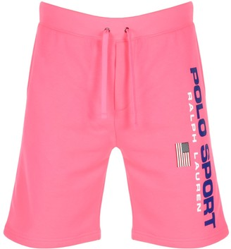 Ralph Lauren Polo Logo Sweat Shorts Pink