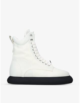 ATTICO Selene woven ankle boots