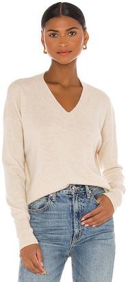 One Grey Day Spencer Cashmere V Neck Sweater