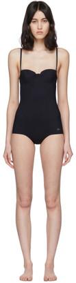 Dolce & Gabbana Black Logo One-Piece Swimsuit