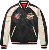 Polo Ralph Lauren Embroidered Cotton-Blend Satin-Twill Bomber Jacket