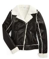 Splendid Girl's Fleece Moto Jacket