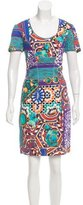 Blumarine Digital Print Sheath Dress