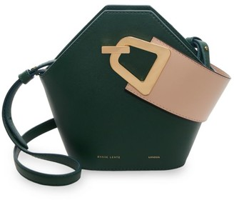 Danse Lente Mini Johnny Geometric Leather Bucket Bag