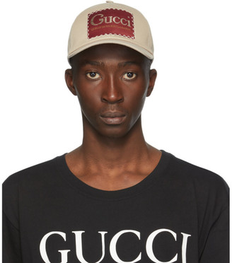 Gucci Beige Label Baseball Cap