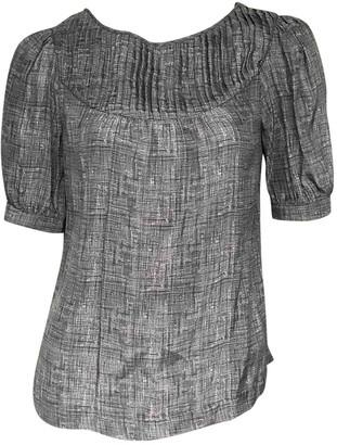 Loeffler Randall Grey Silk Tops
