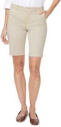 NYDJ Stretch Cotton Blend Twill Bermuda Shorts