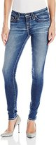 Big Star Women's Alex Mid Rise Skinny Jeans in 10 Year Ponderosa Pink from Omega Vintage Collection