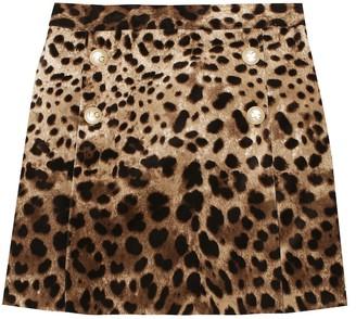 Dolce & Gabbana Kids Velvet miniskirt