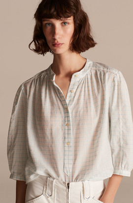 Rebecca Taylor La Vie Lidia Windowpane Top