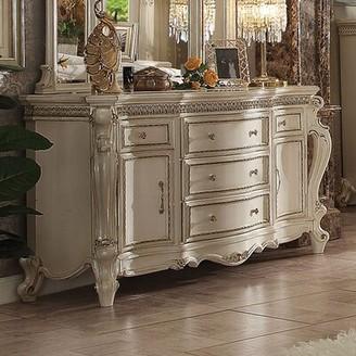 Jardine Traditional 5 Drawer Combo Dresser Rosdorf Park Color: Antique Pearl