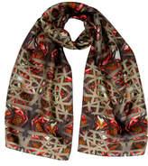 Burton Emma Elastic Lily Digital Print Silk Scarf