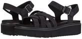 Timberland Safari Dawn Multi Strap Sandal (Black Nubuck) Women's Shoes