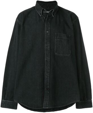 Balenciaga Rear Printed Denim Shirt