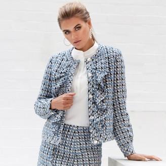 Jovonna London Blue Dean Tweed Jacket - extra small