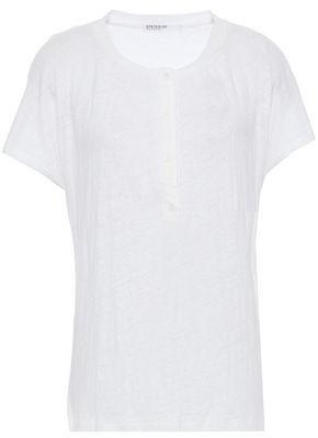 Stateside Slub Linen-jersey T-shirt